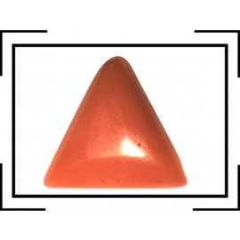 Natural Red Coral Triangular 3+ 1.95ct