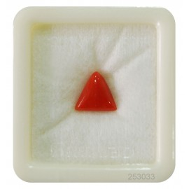 Natural Red Coral Triangular 4+ 2.6ct