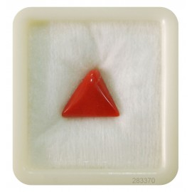 Natural Certified Coral Triangular 7+ 4.2ct
