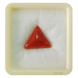 Natural Astrological Coral Triangular 7+ 4.25ct