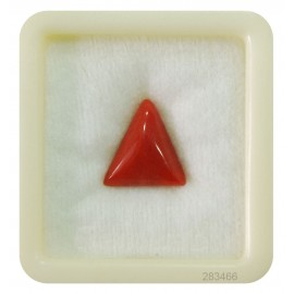 Natural Certified Coral Triangular 7+ 4.6ct