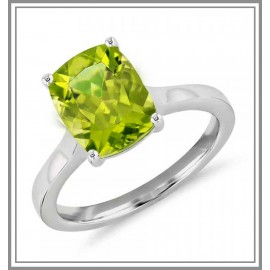 Peridot Cushion Cocktail Ring